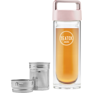 TEATOX staklena termosica – Thermo-Go Bottle Rose Gold 330ml