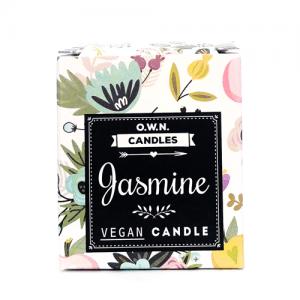 Prirodna Mirisna Svijeća U Ukrasnoj Kutijici – O.W.N. CANDLES – Miris: JASMIN