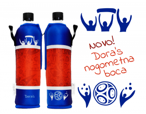 Dora's staklena boca 500ml - nogometna-1
