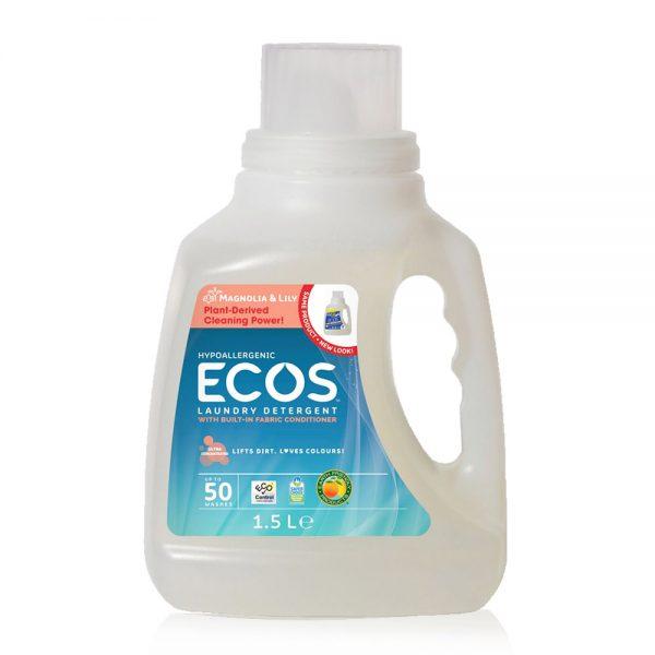 ECOS prirodni deterdžent s omekšivačem za rublje (2u1) - miris ljiljan - 50 pranja - 1,5L