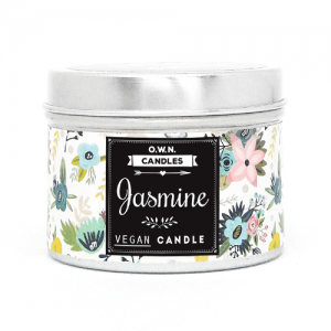 Prirodna mirisna svijeća u ukrasnoj kutijici – miris Jasmin