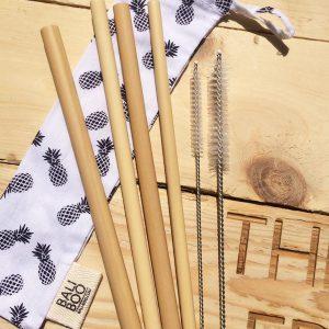 Bali Boo slamke od bambusa – mali set
