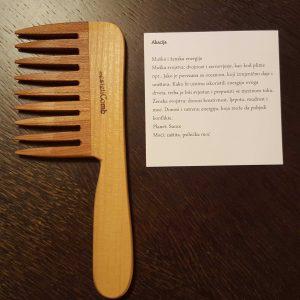LaestetiComb drveni češalj Curly s ručkom – Akacija