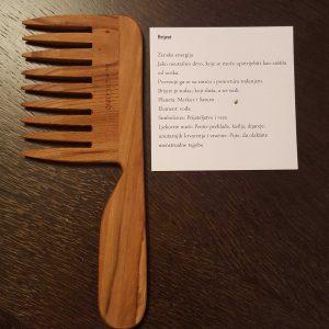 LaestetiComb drveni češalj Curly s ručkom – Brijest