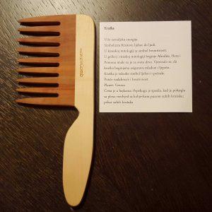 LaestetiComb drveni češalj Curly s ručkom – Kruška
