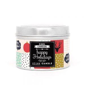 Prirodna travel size mirisna svijeća – Happy Holidays