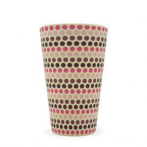 Ecoffee šalica za kavu/čaj – PINK POLKA-2 400ml