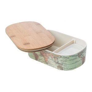 Lunch box World Map s pregradom i malom kutijom