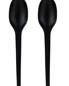 BIO Žlica od CPLA, Crna 16,5cm, pakiranje 50 kom