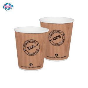 BIO Termo papirnata čaša – 250ml, promjera 9cm, pakiranje 25 kom