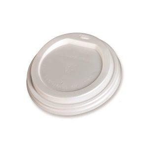 BIO Poklopac za čašu 250-300ml od CPLA, Bijela promjera 9cm, pakiranje 50 kom