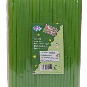 Slamke od BIO plastike , Crne i Zelene 6mmx210mm, 200kom