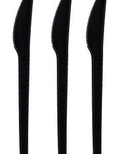 BIO Nož od CPLA, Crna 16,6cm, pakiranje 50 kom