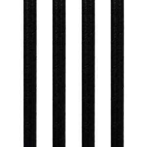 BIO Slamke od Papira, Crne, Točkice / Šarene 8mmx250mm, 50kom