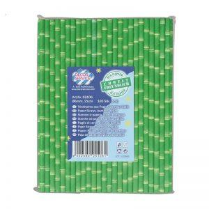 BIO Slamke od Papira, Crno-bijele, Pink-bijele, Bambus zelene, Plavo/Bijele 6mmx210mm, 100kom