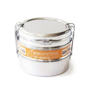 ECOlunchbox – Tri Bento – okrugla posuda iz tri dijela od nehrđajućeg čelika