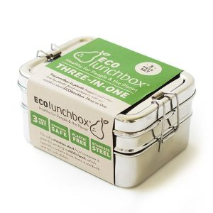 ECOlunchbox  – Three in One-  pravokutna kutija iz tri dijela iz nehrđajućeg čelika