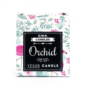 Prirodna mirisna svijeća u ukrasnoj kutijici – miris Orhideja