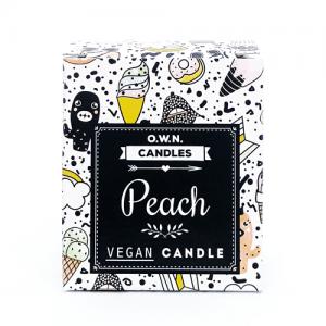 Prirodna mirisna svijeća u ukrasnoj kutijici – miris Breskva