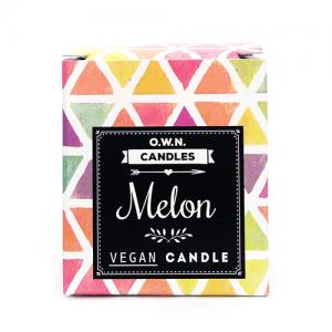 Prirodna mirisna svijeća u ukrasnoj kutijici – miris Lubenica