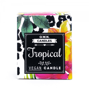 Prirodna mirisna svijeća u ukrasnoj kutijici – miris Tropsko voće