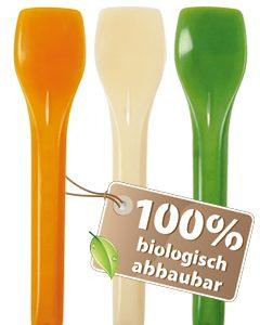 BIO žličica za sladoled Mix boja, ( Zelena, Narančasta, Bijela ) 720 kom