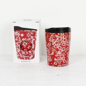 Termo šalica Flowers Red