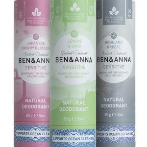 Ben&Anna prirodni dezodorans u papirnatom pakiranju 60g – Sensitiv