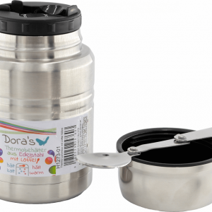Dora's termo posuda za hranu sa žlicom – metalna 500ml,750ml