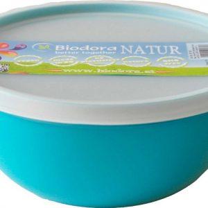 Posuda za hranu s poklopcem od bioplastike -2L bijela, zelena i tirkizna