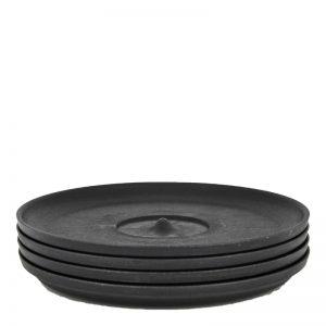 HUSKEE CUP tanjurić za šalice 4 komada – bež, crna