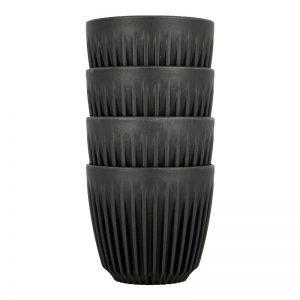 HUSKEE CUP 175ml –  4 komada – bež , crna