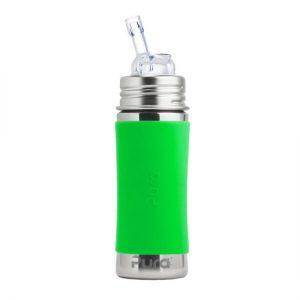 Pura Kiki boca od nehrđajućeg čelika, čep sa slamkom-zelena,narančasta