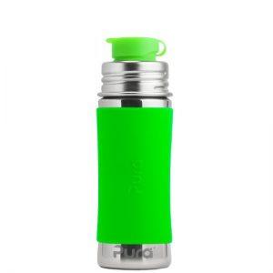 Pura Sport boca od nehrđajućeg čelika sa sportskim čepom – narančasta, zelena