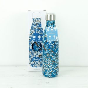 Qwetch termos boca Flowers blue 500ml