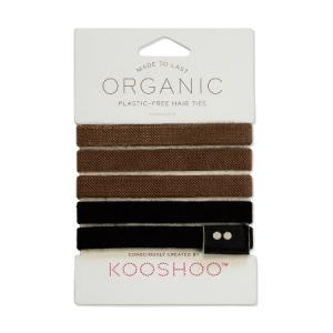 KOOSHOO  Gumice za kosu – Plastic Free , Brown/Black 5kom