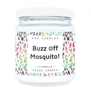 Prirodna mirisna svijeća u staklenci – Cironella , protiv komaraca 180g
