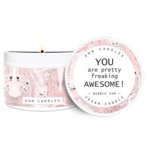 Putna mirisna svijeća u limenci – Bubble Gum 90 g