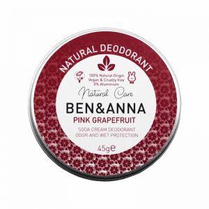 Ben & Anna prirodni dezodorans u kremi, Pink Grapefruit 45g
