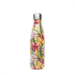 Qwetch termos boca Tropical Yellow Flowers 500ml