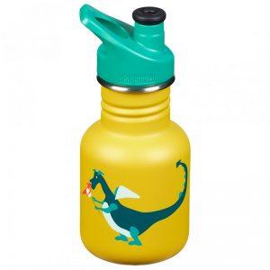 KLEAN KANTEEN  Boca za vodu za djecu sa Sportskim čepom- Žuta Dragon 355ml