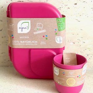 AJAA ROZA SET | Šalica (Pink) + Kutija za užinu (Pink)