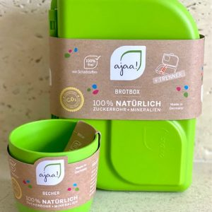 AJAA ZELENI SET | Šalica (Lime) + Kutija za užinu (Lime)
