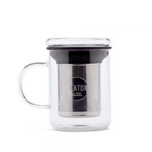 Teatox staklena šalica za čaj