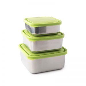 Set od tri posude za hranu – limeta poklopac