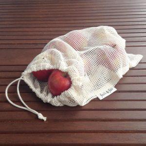 Mrežasta vrećica za voće i povrće iz organskog pamuka 40x30cm