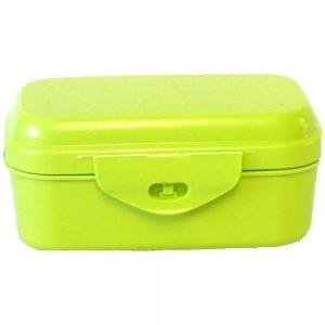 Biodora kutija za užinu od prirodnog materijala – minerala i voska – ZELENA