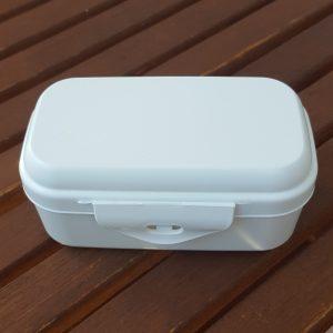 Biodora kutija za užinu od prirodnog materijala – minerala i voska – BIJELA