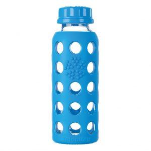 Lifefactory 250 ml staklena boca s običnim čepom, ocean