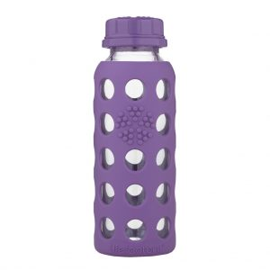 Lifefactory 250 ml  staklena boca s običnim čepom, grape